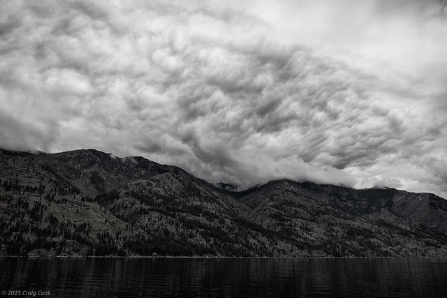 Turbulent Clouds over Lake Chelan