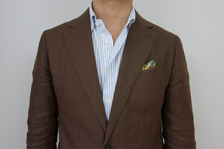 Brown linen suit | by Kent Wang