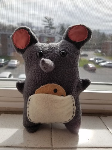Ninni mouse with pocket and cookie