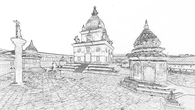 Nepal - Patan - Temple - 148c