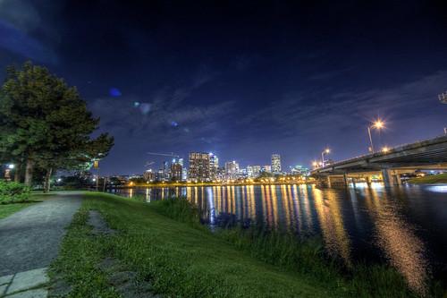 montreal view vue port montréal night nuit shot prise light lumière hdr