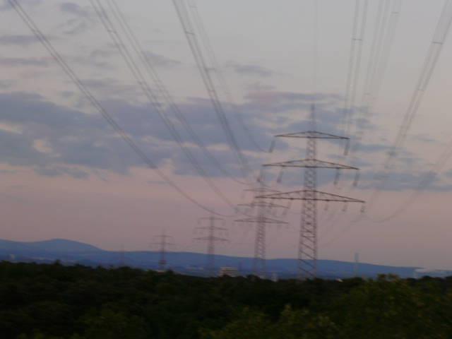 Strommast,Lattice Climbing am Abend