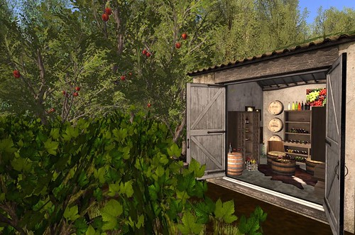 Heart Homes- La Bodega Set (Vineyard & Apple Trees) | by Hidden Gems in Second Life (Interior Designer)