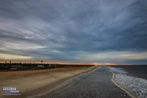 ocean sunset sky beach nature water clouds unitedstates florida atlanticocean staugustine staugustinebeach saintaugustine stjohnscounty thesussman sonyslta77 sussmanimaging