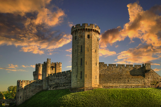 Warwick Castle outer wall - England