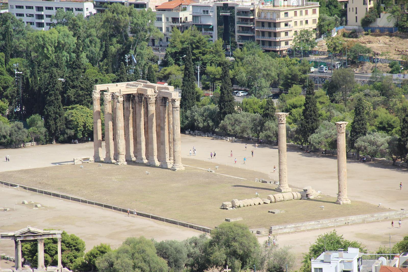 Acropolis View of Temple of Olympian Zeus