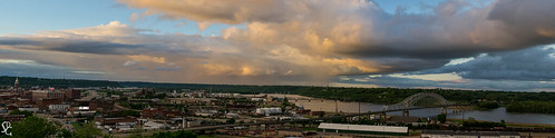 sunset panorama rain river dusk iowa mississippiriver dubuque tristates