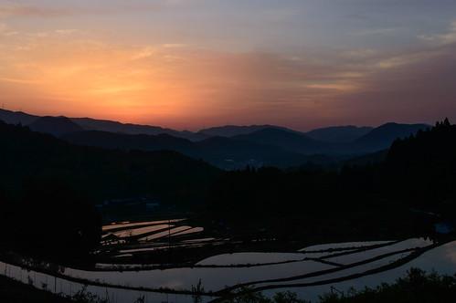 sunrise 大阪 日の出 棚田 能勢