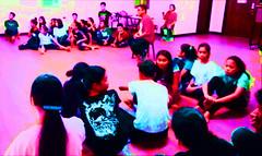 Marist school afternoon shift scholars learn theater arts