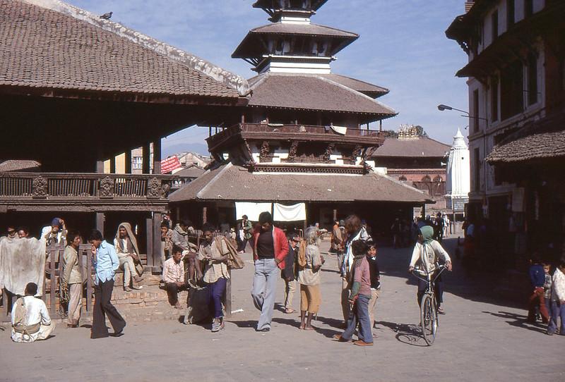 1978 Kathmandu temple in Durbar Square