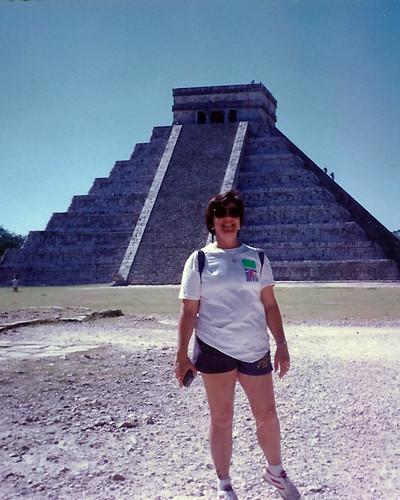 Betty at the Pyramid of Kukulcan