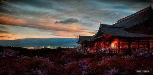 sunset sky people water japan atardecer temple agua nikon kyoto gente photographers unescoworldheritagesite cielo sakura pure pura kiyomizu templo fotógrafos jesuscm