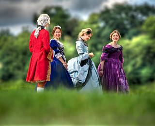 Louis XV avec 3 courtisanes