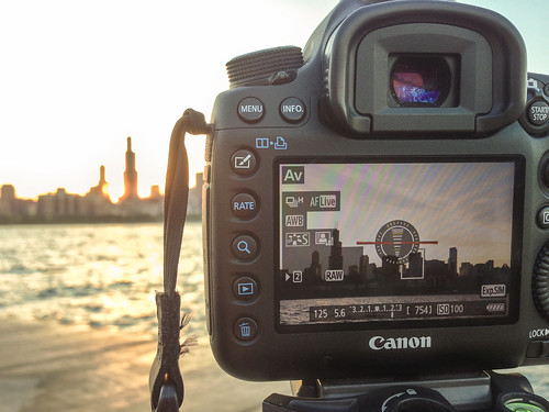 Chicago skyline through the viewfinder | by Tony Webster