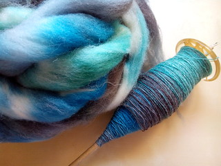 Finished the first single! Fiber is Southdown in the Seaglass colorway | by Ithladin_chan
