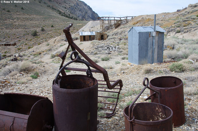 Ore buckets and tram hardware