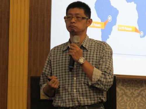 圖09虎尾技大學倪世傑講師講授「自由貿易全球化與台灣經濟發展」