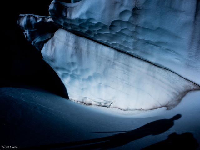 At the entrance to an ice cave