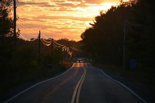 sunset car nikon headlights ithaca fingerlakes d7100