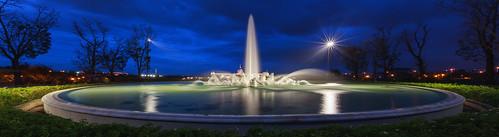 longexposure sunset panorama widescreen taiwan bluehour 台灣 台南 tw 台南市 奇美博物館 寬景 仁德區