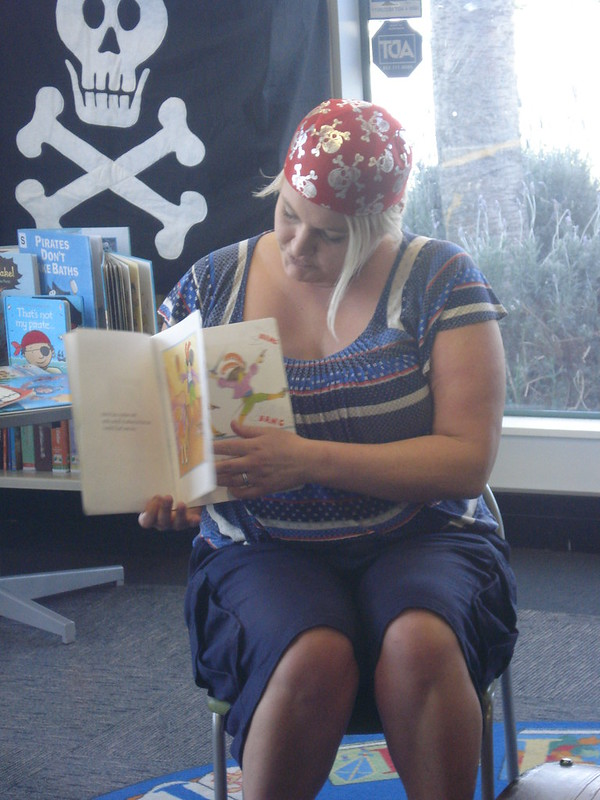 Reading a pirate story