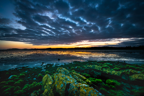 sunset sea sky skyscape scotland seaside scottish kirkcudbright sandside gallowway