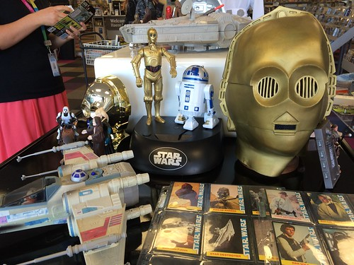 Trading cards, X-wing and C3P0