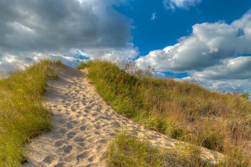 sky beach clouds geotagged sand nikon unitedstates michigan hdr sanddunes stevensville grandmerestatepark nikond5300