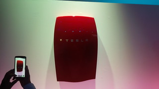 The @TeslaMotors Home Battery solution in a nice red! #TEatTesla | by dennis_p