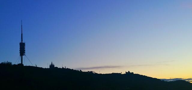 Albada a Barcelona....Skyline Barcelona