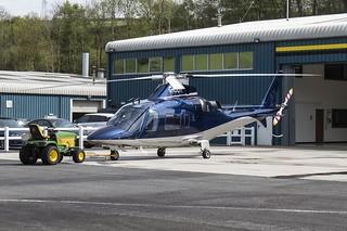 G-IOOK Agusta A109 @ Castle Air Liskeard.
