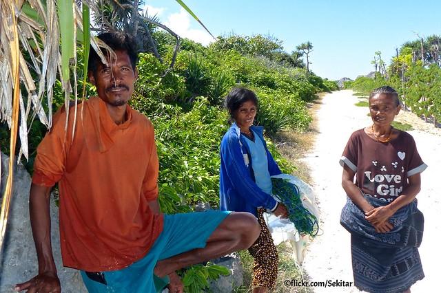 Sea weed farmers at Pantai Lobo Hede, Sawu Barat