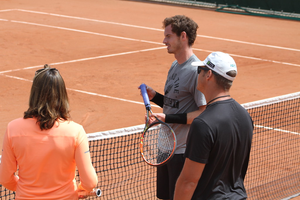 Amélie Mauresmo and Andy Murray