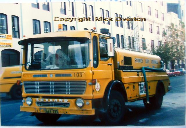 Sydney City Council Leyland Ergo water sprayer #103 GFF733 June 1988