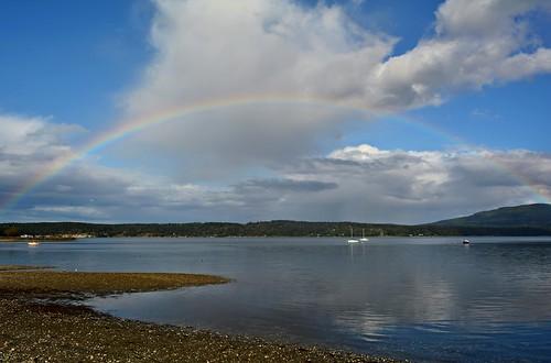 clouds boats rainbows lagoons johnwaynemarina