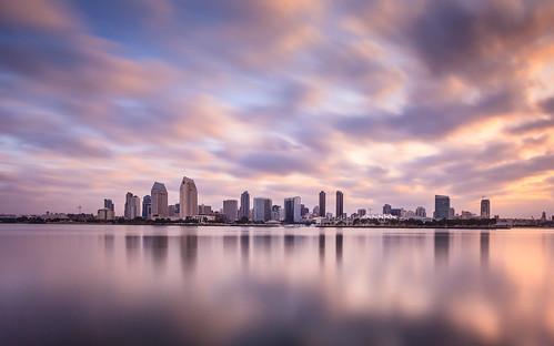 california longexposure skyline sunrise landscape bay cityscape skyscrapers sandiego coronado sandiegobay coronadoferrylanding
