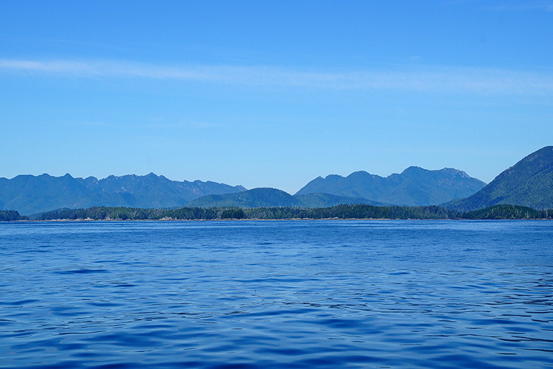 Kyuquot Sound, looking toward Checleset Bay Ecological Reserve and Big Bunsby Islands, Vancouver Island, British Columbia. Photo: Santa Brussouw.