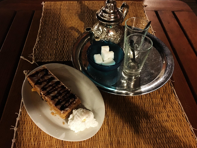 Mille Feuille and Mint Tea