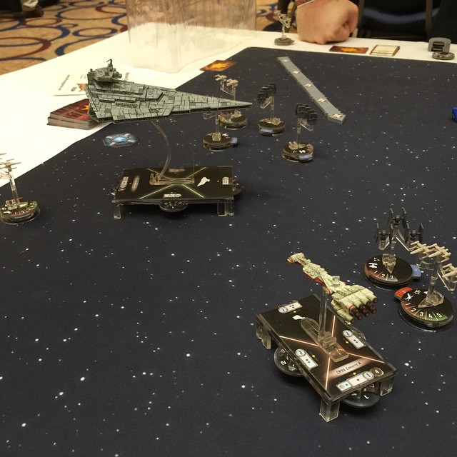 best star wars board games Star Wars Armada in play
