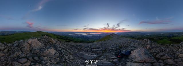 Mission Peak Sunset Panorama