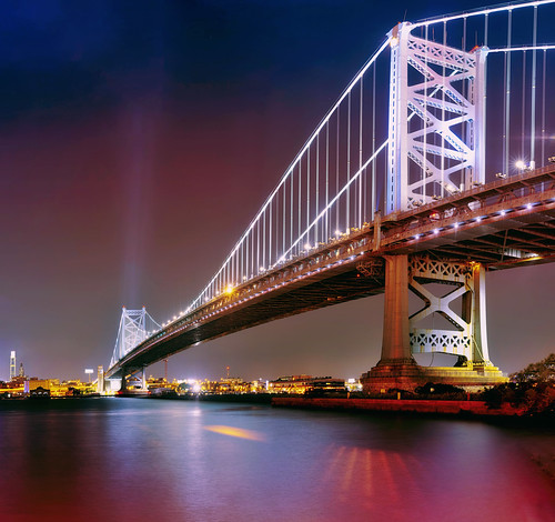 longexposure panorama reflection philadelphia skyline night skyscraper river landscape newjersey cityscape cloudy pennsylvania camden nj nopeople pa philly benfranklinbridge benfranklin stitched bfb delawareriver multipleimages 2015 benjaminfranklinbridge franklinbridge mudpig stevenkelley