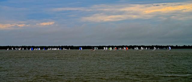 Sailboat Race - Charleston Harbor - Charleston SC