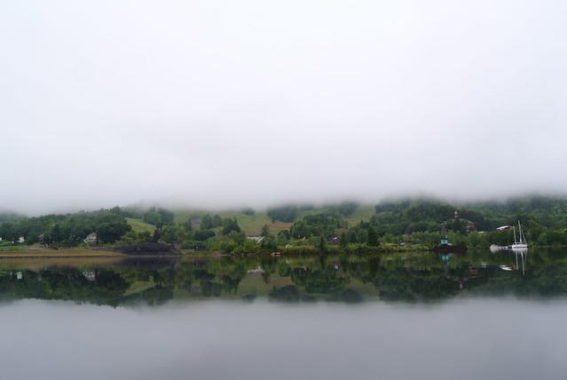 Foggy view of Ripley