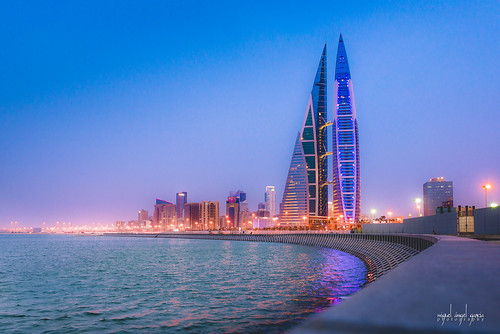 sunset seascape bay bahrain nikon middleeast bluehour bahrein worldtraveler nikond600 tamron2470f28