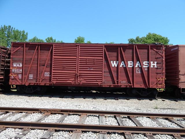 Wabash box car at North Judson Indiana