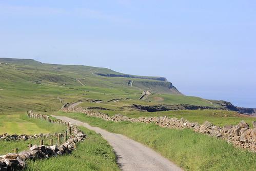 county ireland wild west green way outside outdoors clare outdoor path walk doolin cliffs atlantic walkway daytime moher