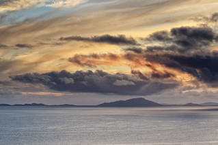 Golden Skies and Black Clouds over the Western Isles