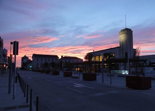 gare sncf station clermontferrand sunrise sky avenue clouds blue avenuedelurss auvergne september france