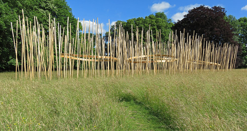 Jumieges Abbey Ruins in France featured a wooden art installation