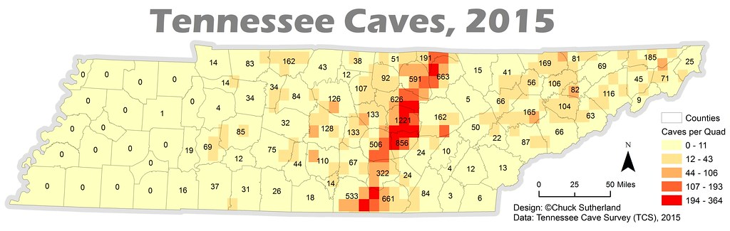 Tennessee Caves 2015 | The Eastern Highland Rim is the line ...